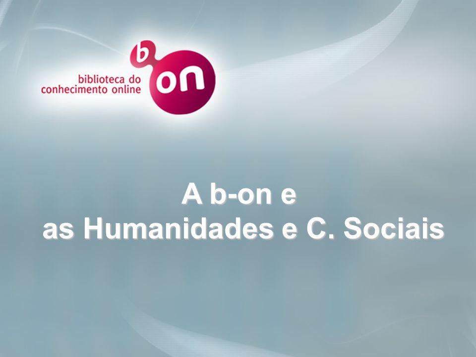 as Humanidades e C. Sociais
