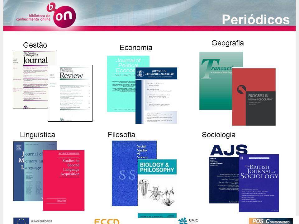 Periódicos Geografia Gestão Economia Linguística Filosofia Sociologia