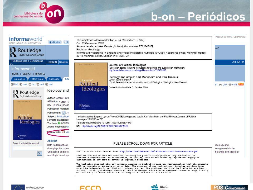 b-on – Periódicos