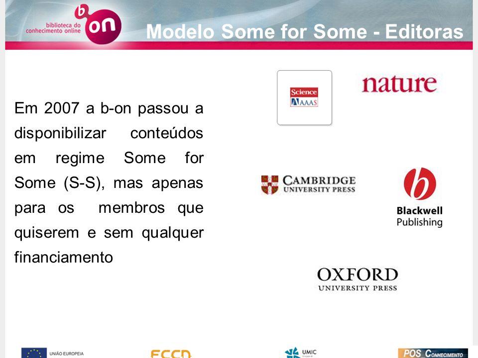Modelo Some for Some - Editoras