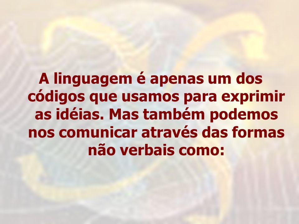 A linguagem é apenas um dos códigos que usamos para exprimir as idéias