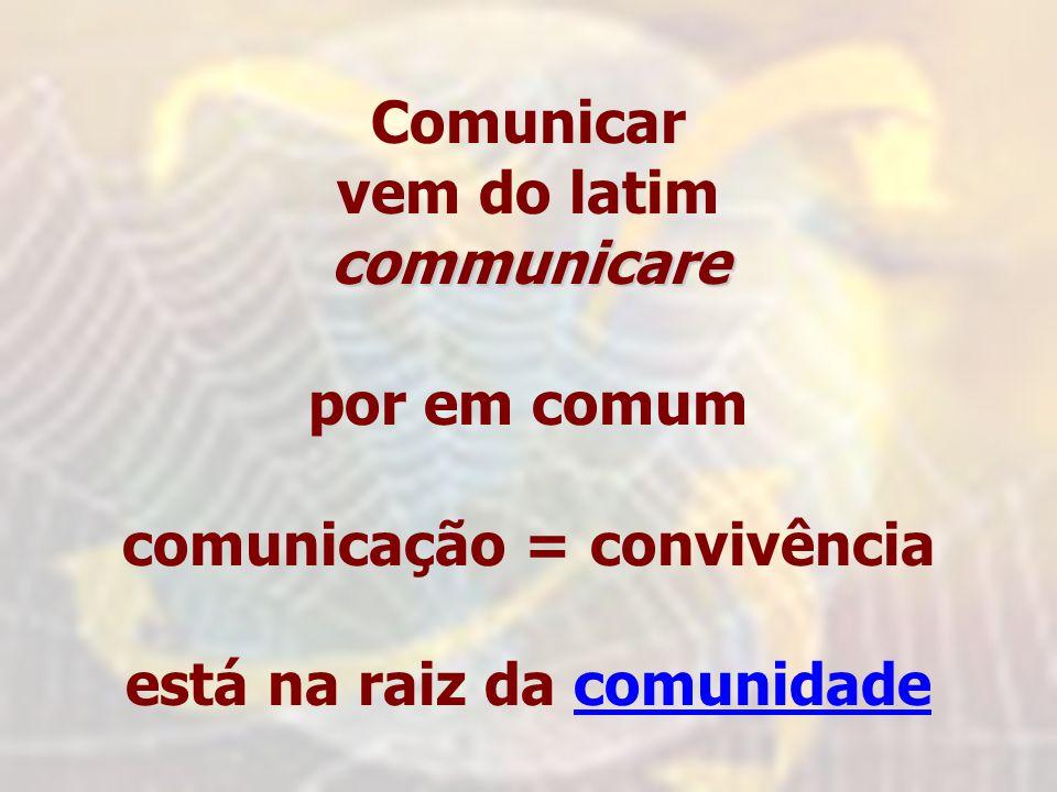 comunicação = convivência está na raiz da comunidade