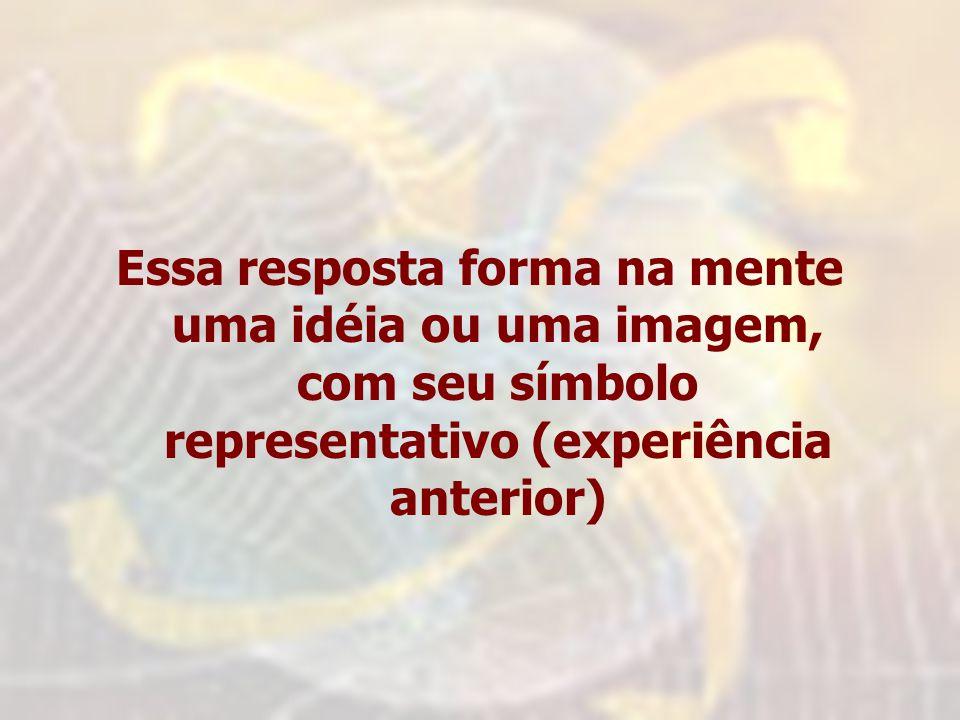 Essa resposta forma na mente uma idéia ou uma imagem, com seu símbolo representativo (experiência anterior)