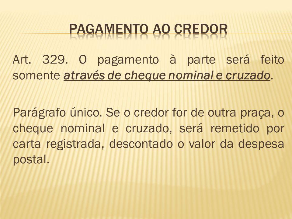 PAGAMENTO AO CREDOR