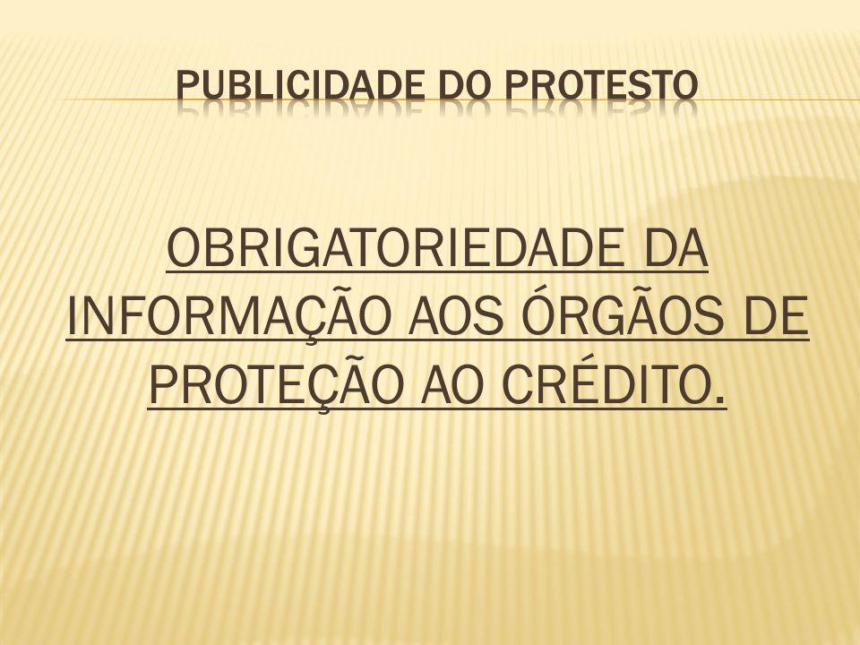 PUBLICIDADE DO PROTESTO