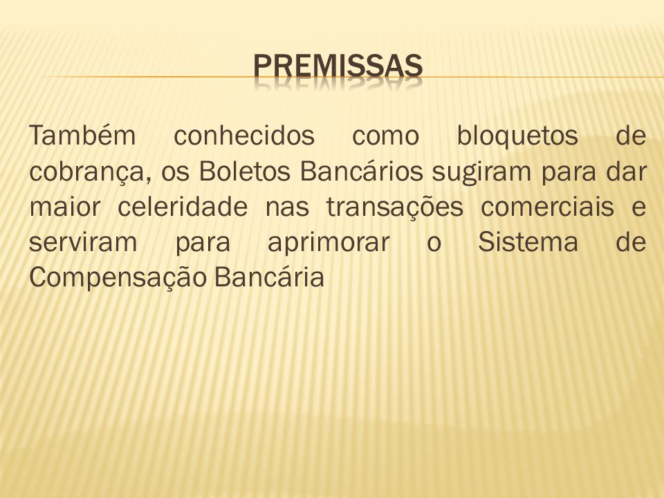 PREMISSAS