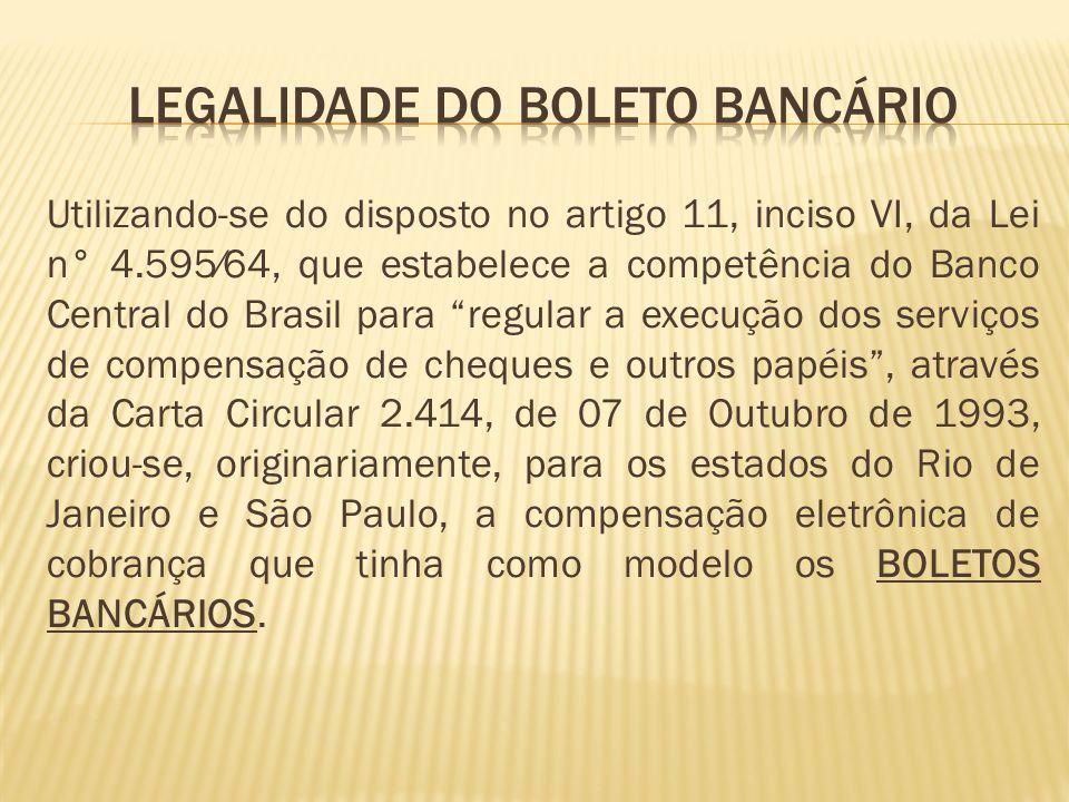 Legalidade do boleto bancário