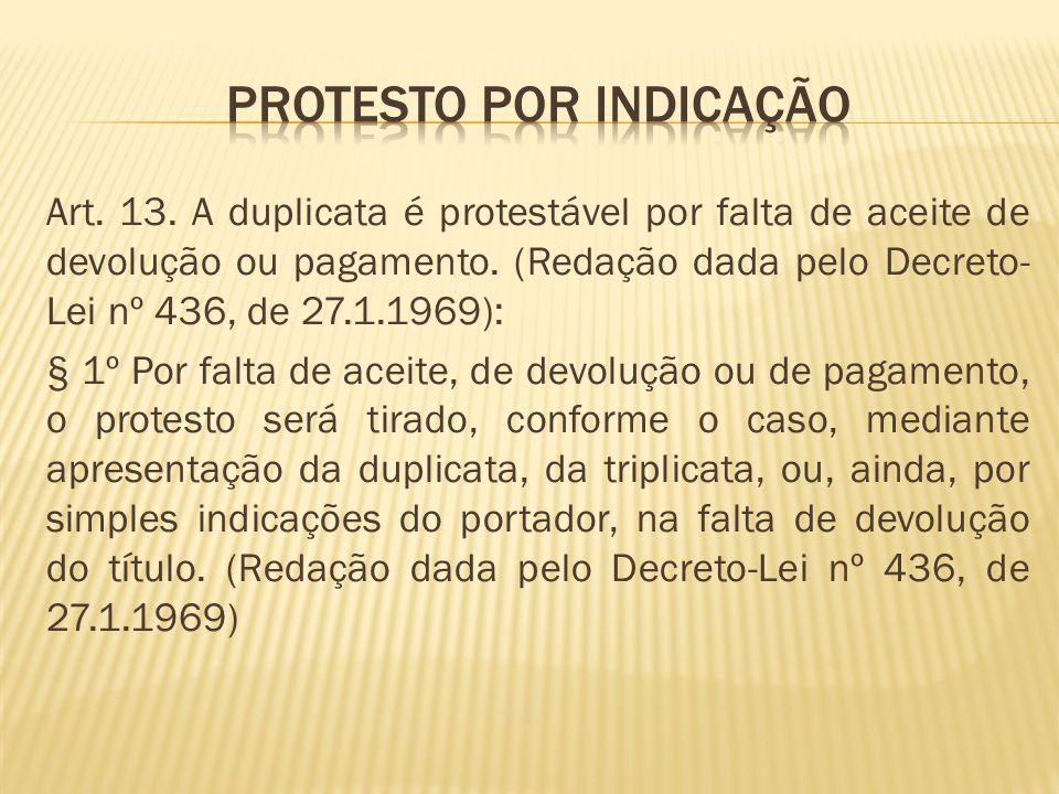 Protesto por indicação