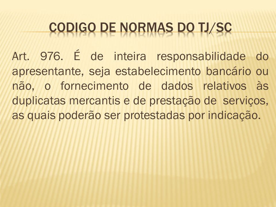 Codigo de normas do tj/sc