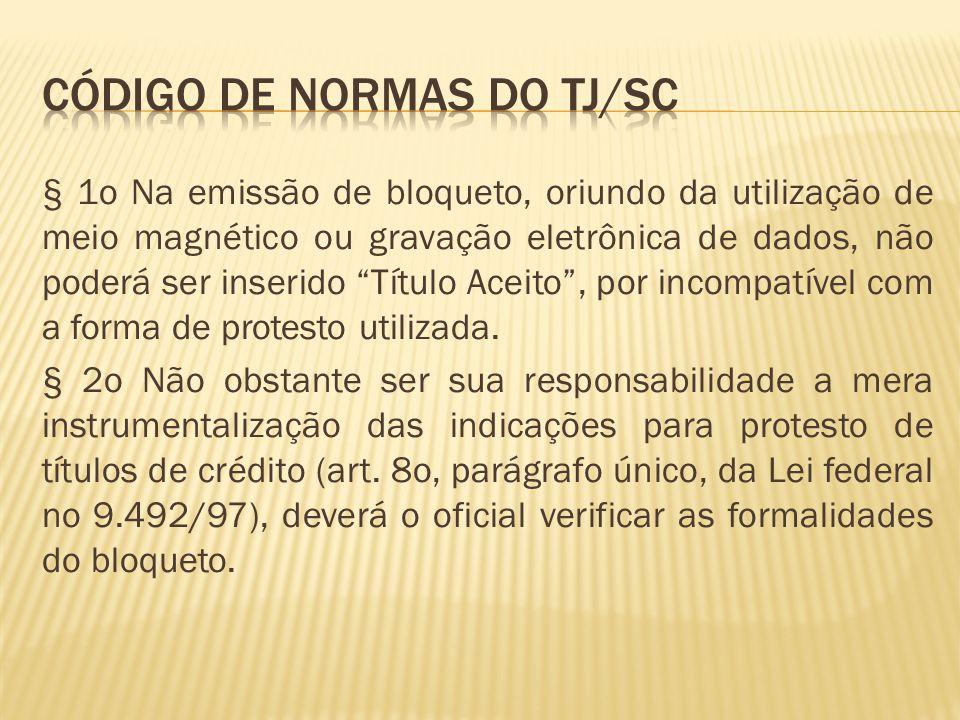 Código de normas do tj/sc