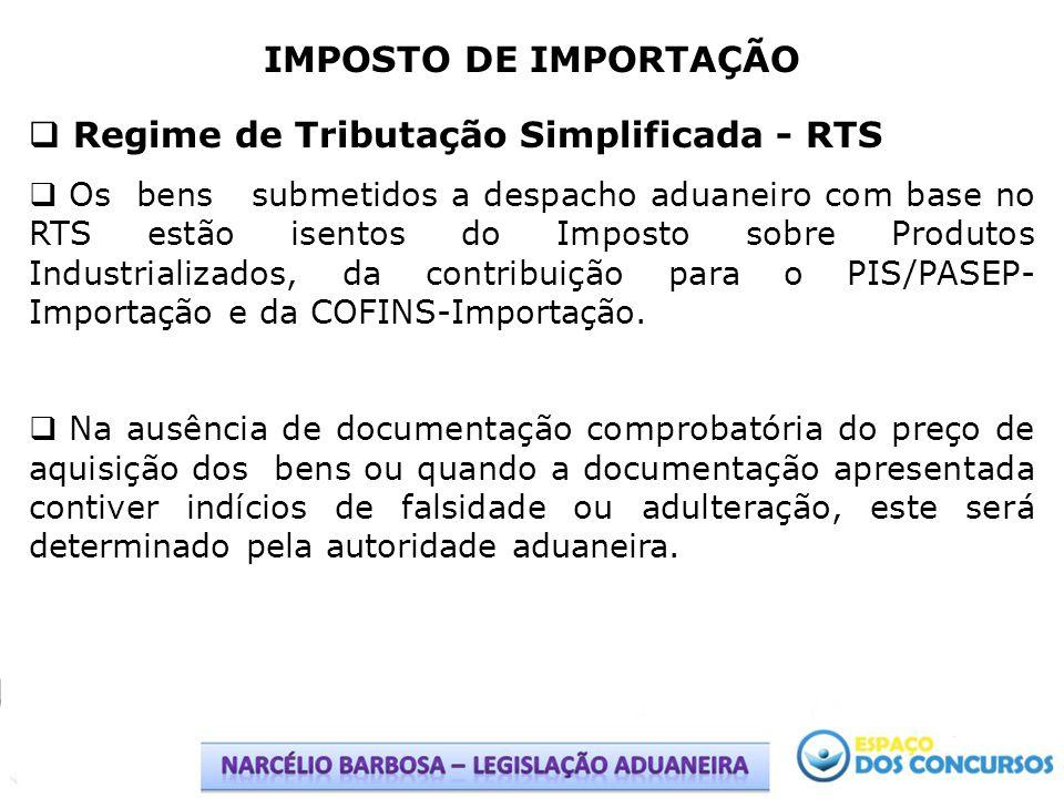 Regime de Tributação Simplificada - RTS