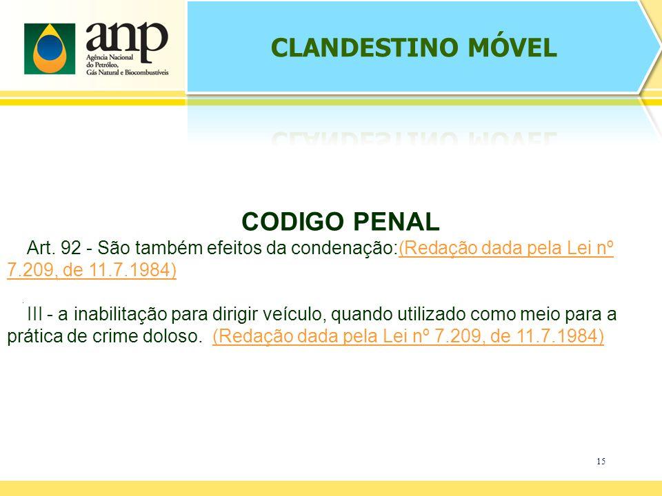 CLANDESTINO MÓVEL CODIGO PENAL