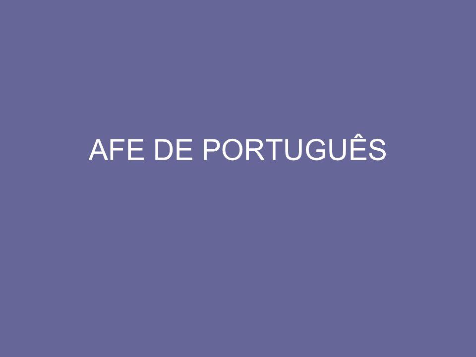 AFE DE PORTUGUÊS
