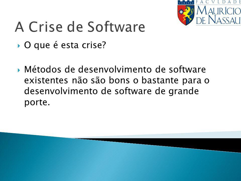 A Crise de Software O que é esta crise
