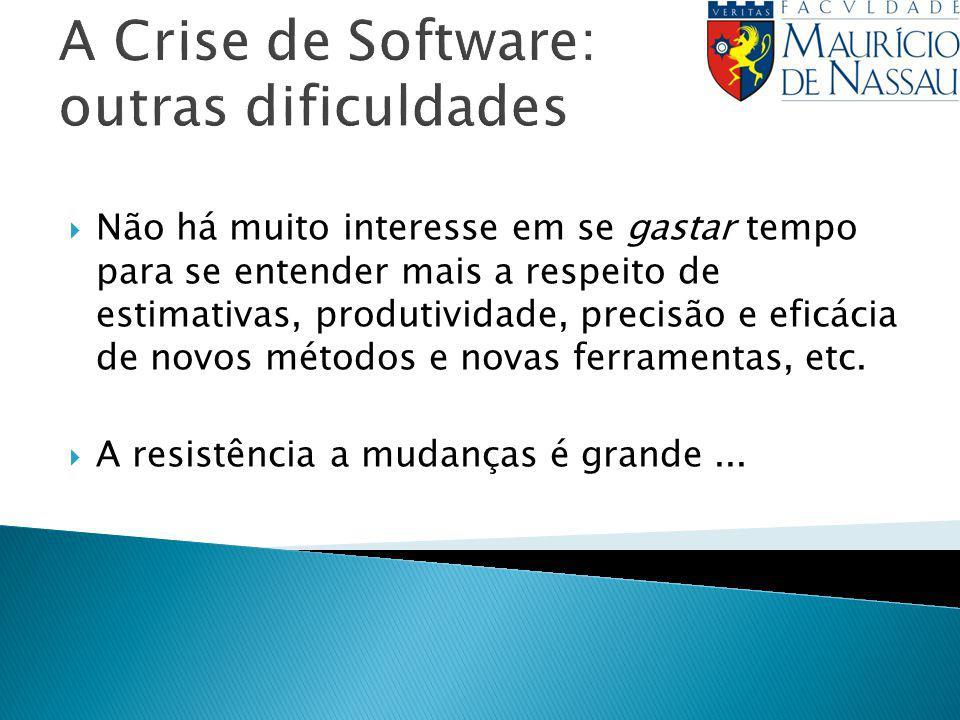 A Crise de Software: outras dificuldades
