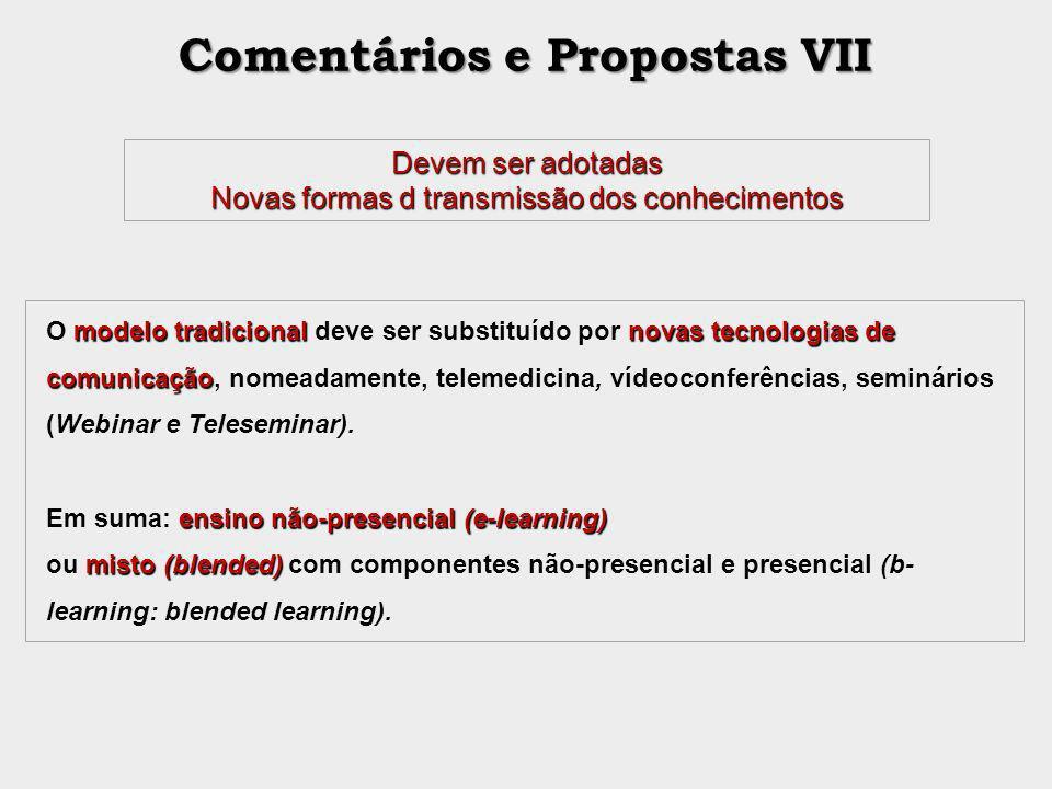 Comentários e Propostas VII