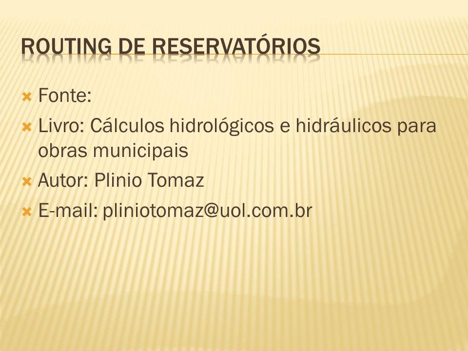 Routing de reservatórios