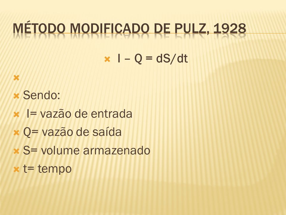 Método Modificado de Pulz, 1928