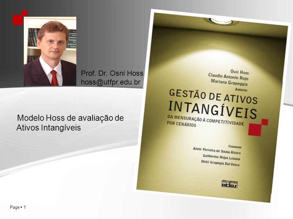 Modelo Hoss de avaliação de Ativos Intangíveis