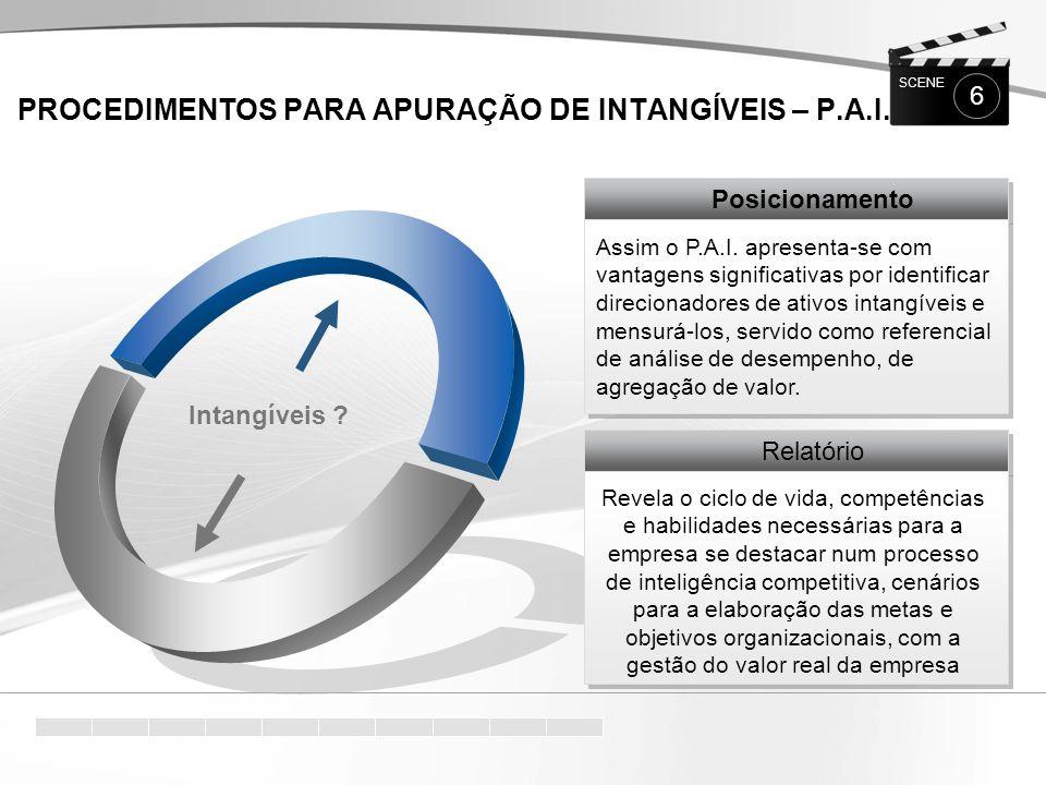 PROCEDIMENTOS para APURAÇÃO de INTANGÍVEIS – P.A.I.