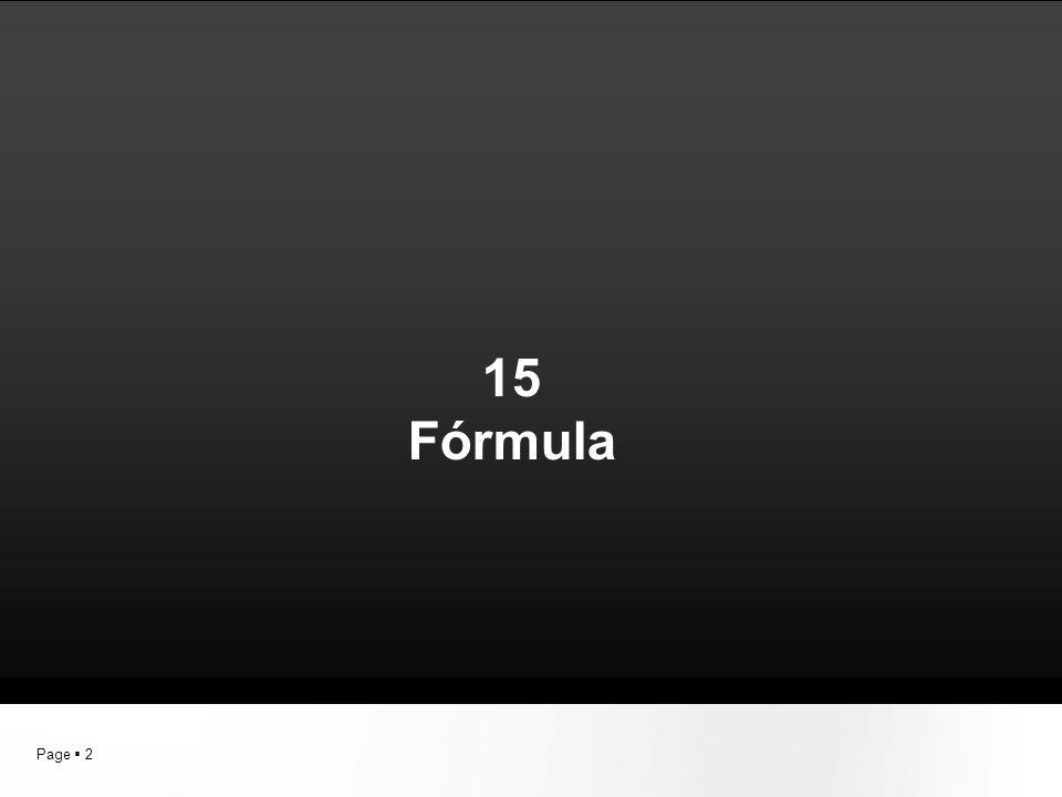 15 Fórmula