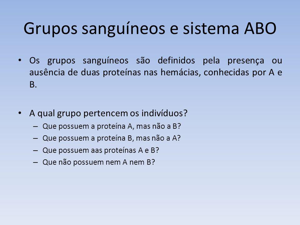Grupos sanguíneos e sistema ABO
