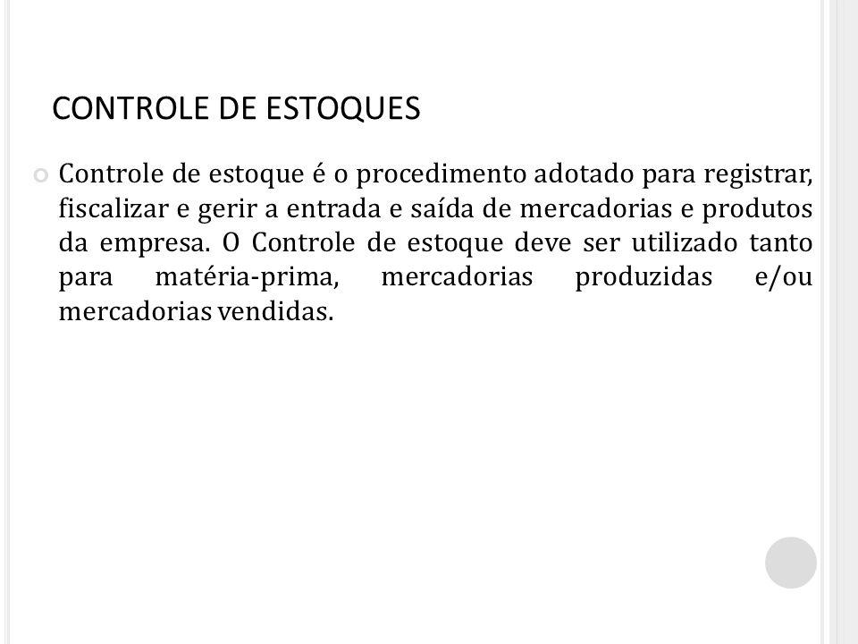 CONTROLE DE ESTOQUES