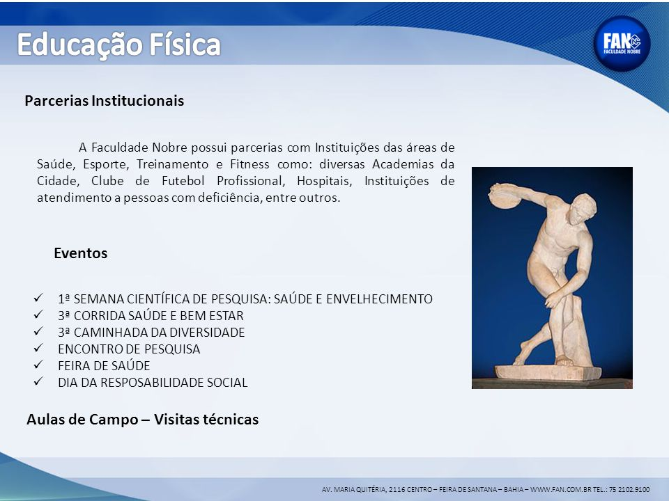Educação Física Parcerias Institucionais Eventos