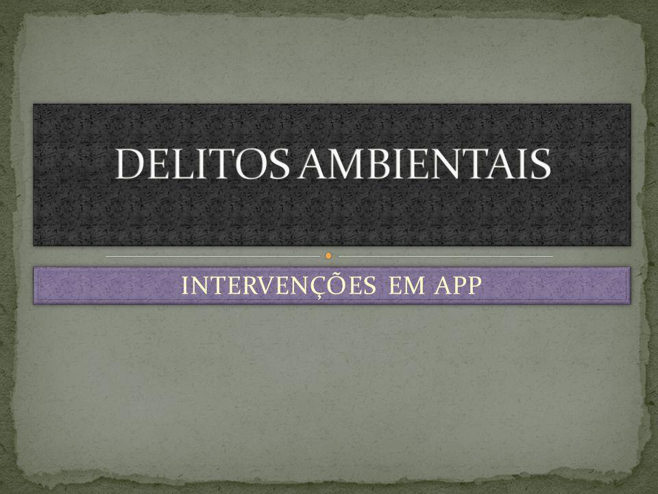 DELITOS AMBIENTAIS INTERVENÇÕES EM APP