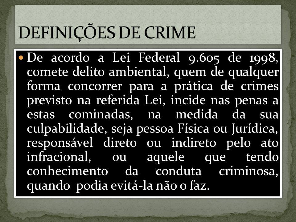 DEFINIÇÕES DE CRIME