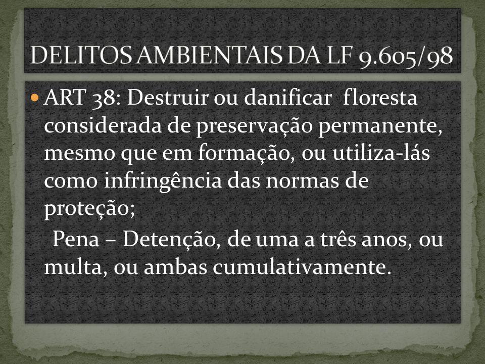 DELITOS AMBIENTAIS DA LF 9.605/98