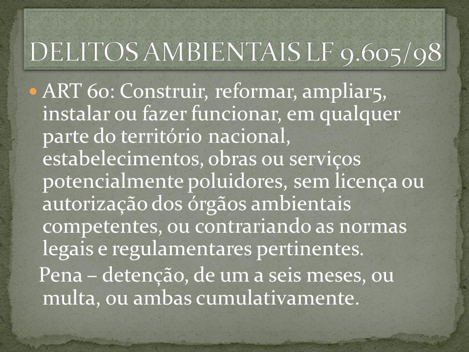 DELITOS AMBIENTAIS LF 9.605/98