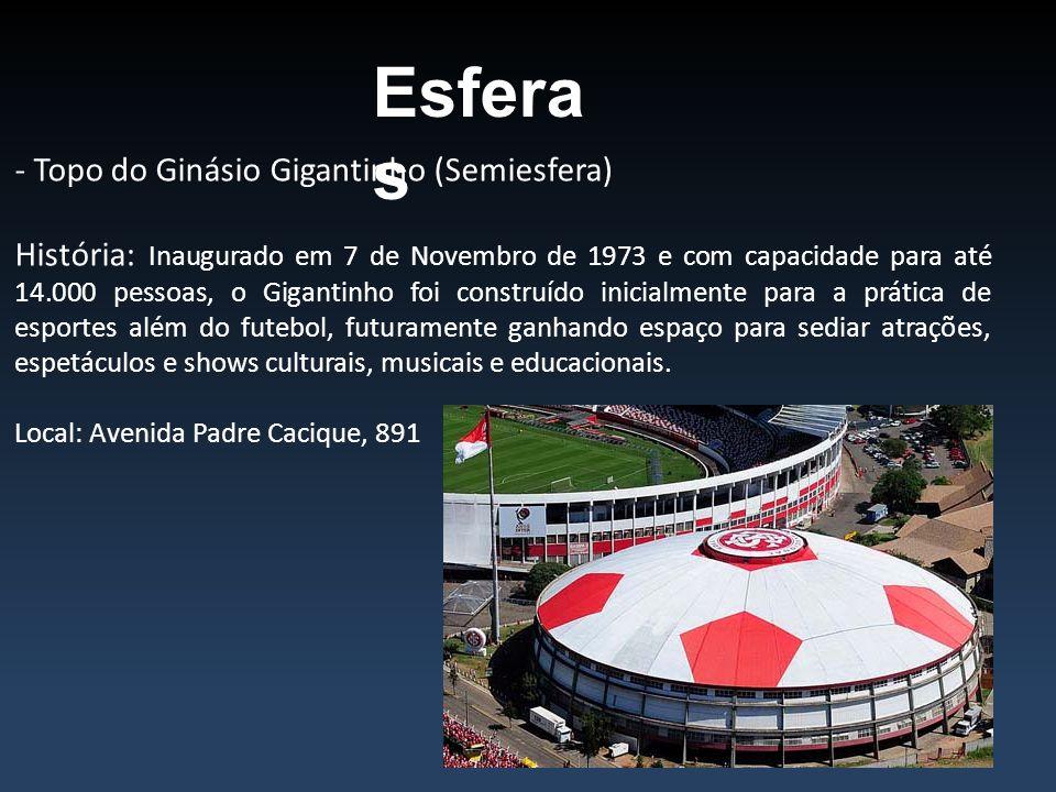 Esferas - Topo do Ginásio Gigantinho (Semiesfera)
