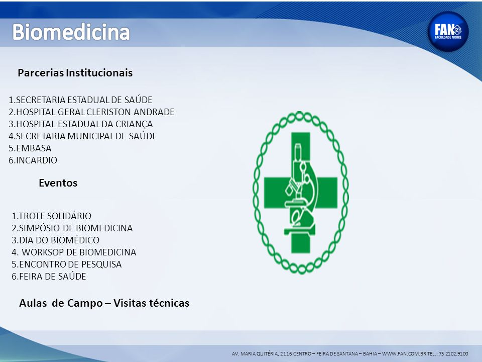 Biomedicina Parcerias Institucionais Eventos