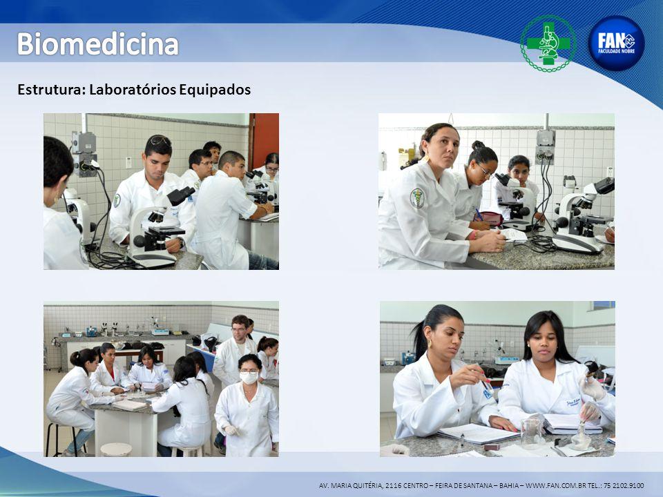 Biomedicina Estrutura: Laboratórios Equipados