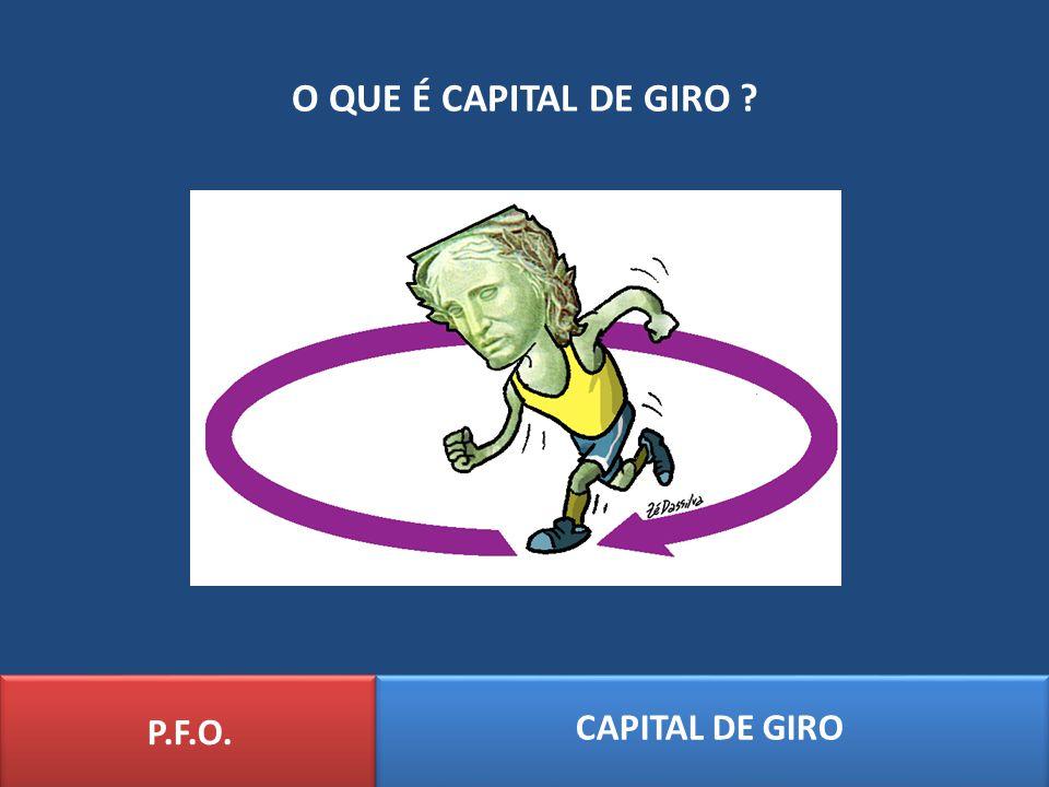 O QUE É CAPITAL DE GIRO P.F.O. CAPITAL DE GIRO