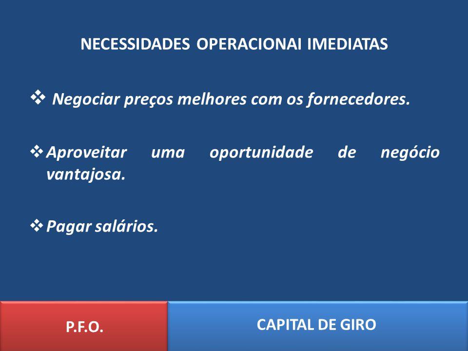 NECESSIDADES OPERACIONAI IMEDIATAS