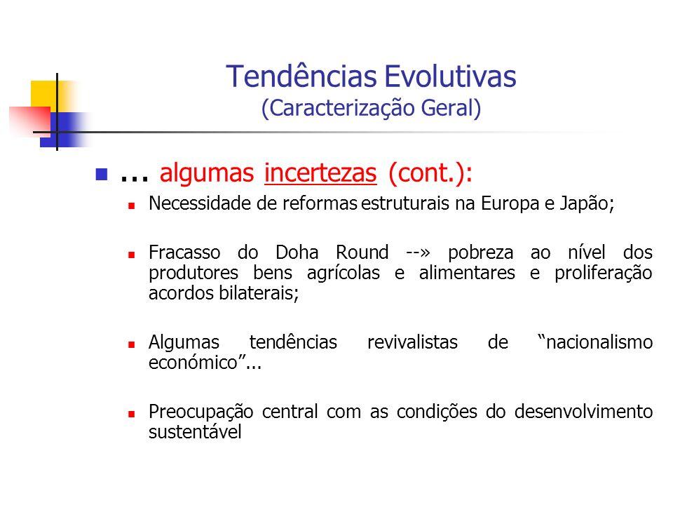 Tendências Evolutivas (Caracterização Geral)