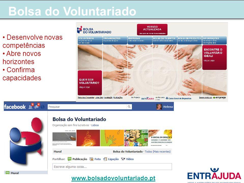 Bolsa do Voluntariado Desenvolve novas competências