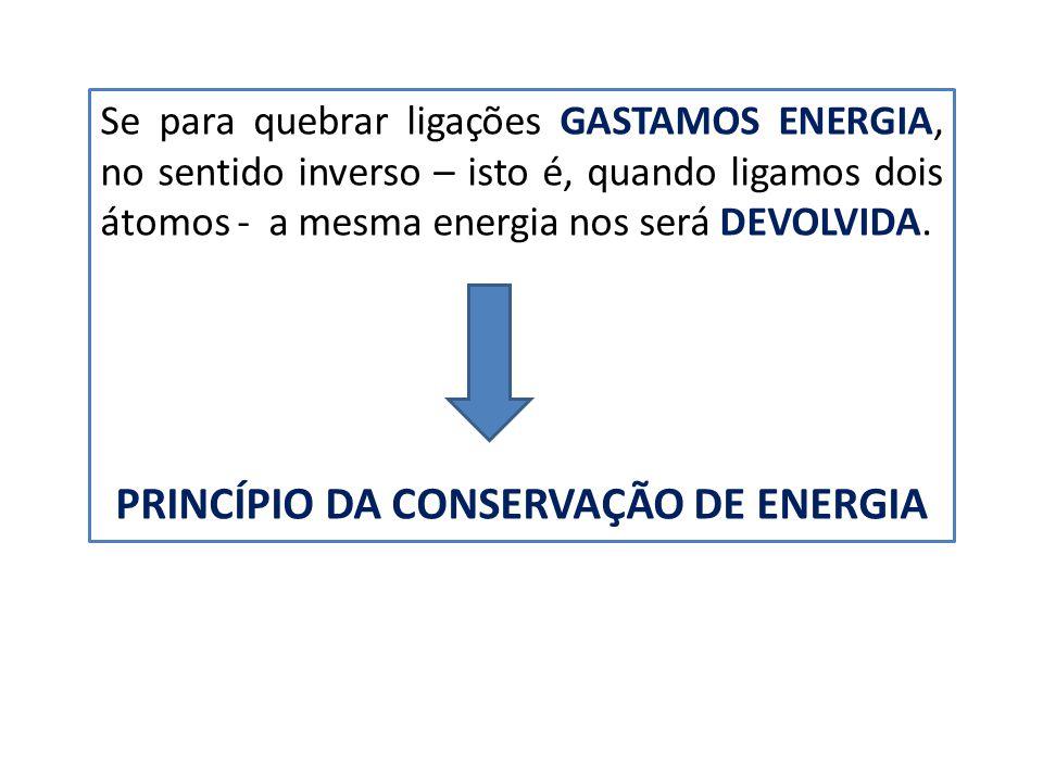 PRINCÍPIO DA CONSERVAÇÃO DE ENERGIA