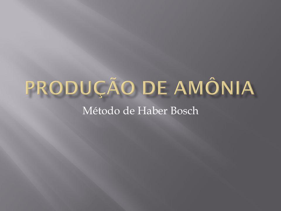 Produção de Amônia Método de Haber Bosch