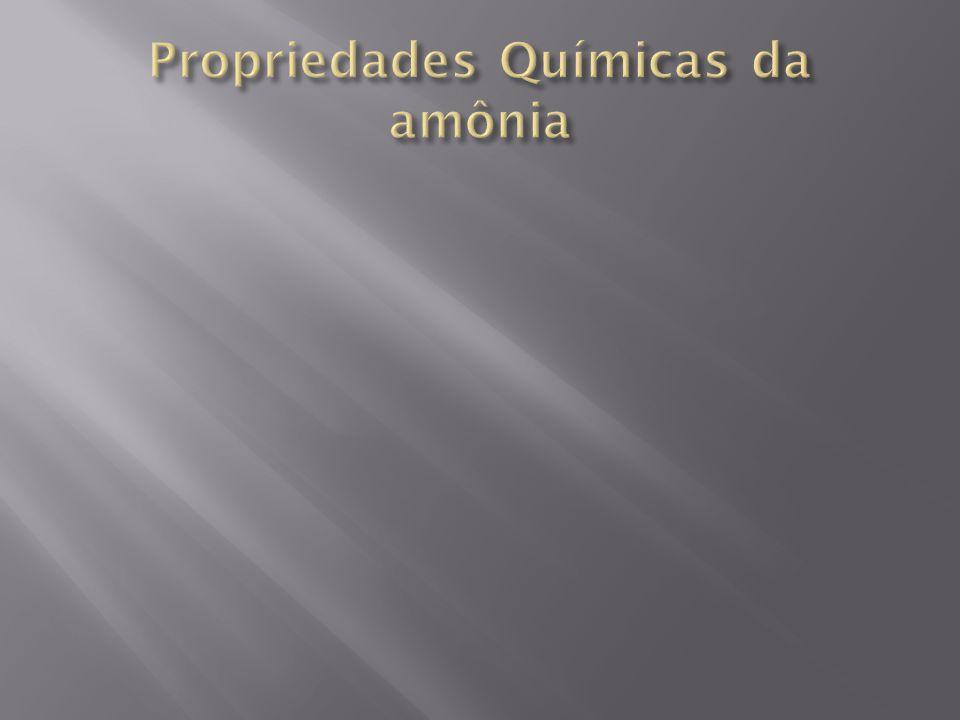 Propriedades Químicas da amônia