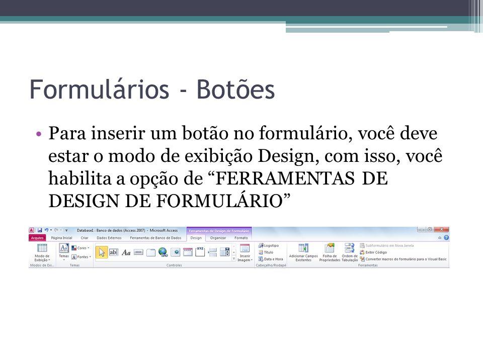 Formulários - Botões