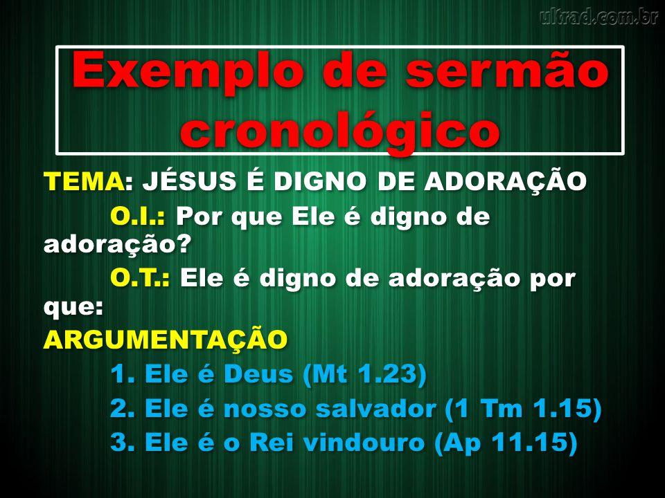 Exemplo de sermão cronológico