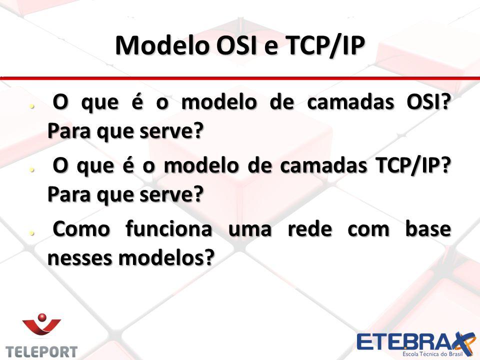 Modelo OSI e TCP/IP O que é o modelo de camadas OSI Para que serve