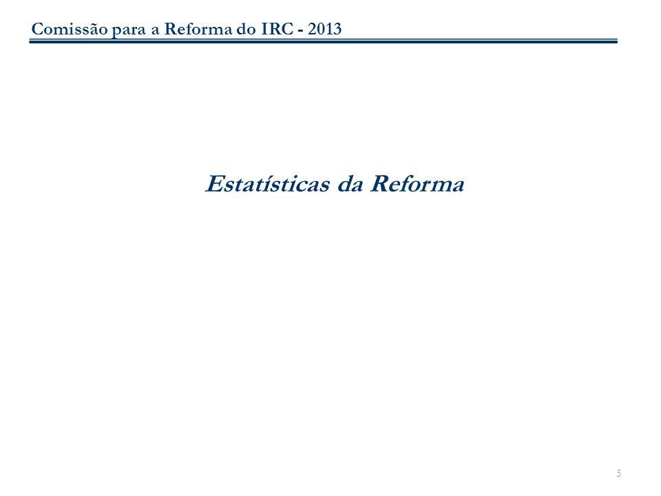 Estatísticas da Reforma