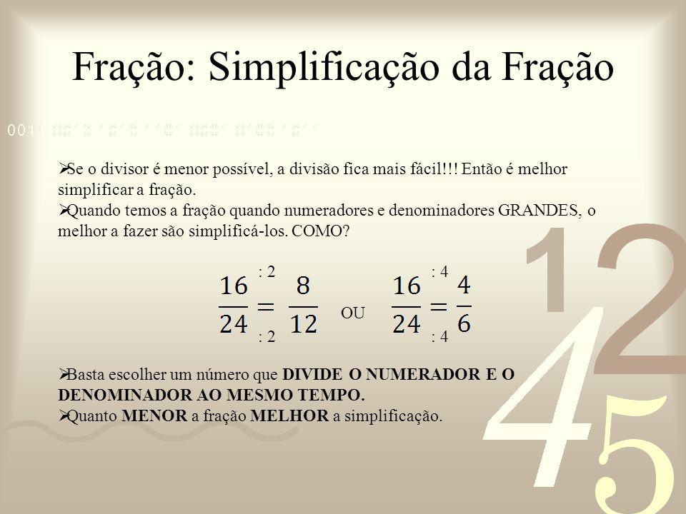 Fração: Simplificação da Fração