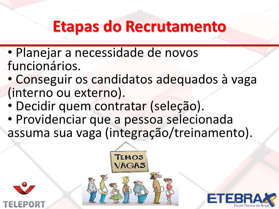 Etapas do Recrutamento