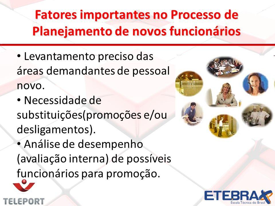 Fatores importantes no Processo de Planejamento de novos funcionários