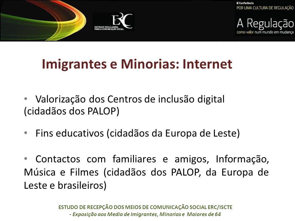 Imigrantes e Minorias: Internet